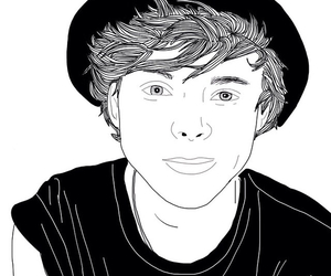 draw, outlines, and ashton+irwin image