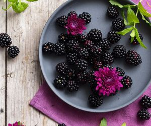 food, fruit, and blackberry image
