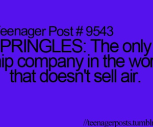 pringles, teenager post, and funny image