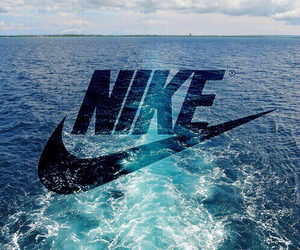 nike, blue, and sea image