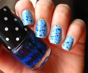 blue, glitter, and H&M image