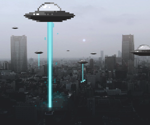 alien, wallpaper, and city image