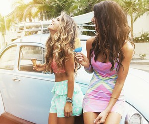 blonde, summer, and friends image