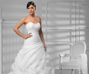 bridal, dresses, and gown image