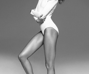 beauty, Karlie Kloss, and black and white image