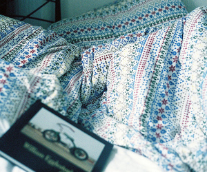 bed, book, and hipster image