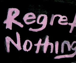 quote, regret, and nothing image
