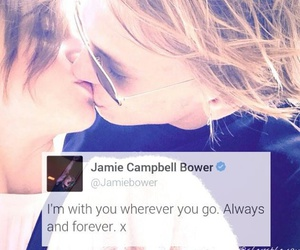 couple, Jamie Campbell Bower, and twitter image