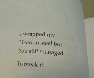 book, quote, and heart image