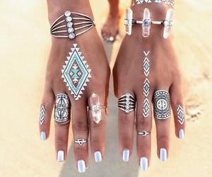 rings, summer, and nails image