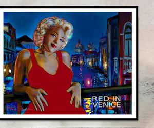 Marilyn Monroe, painting, and portrait image