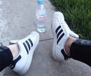superstar, adidas, and black image