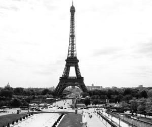 black, black&white, and eiffel image