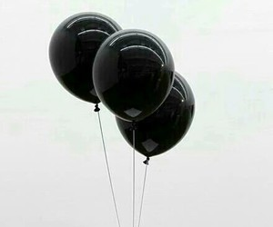 balloons, grunge, and black image