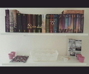books, bookshelf, and delirium image