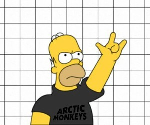 arctic monkeys, simpsons, and grunge image