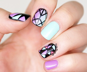 nail polish, nail art, and cute image