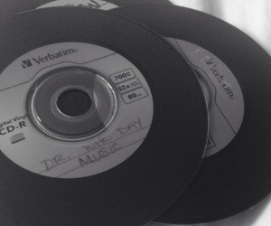 album, black and white, and cd image