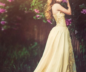 dress, flowers, and princess image