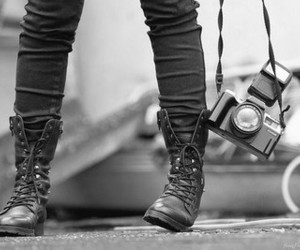 camera, photography, and shoes image