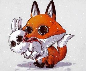 fox, rabbit, and animal image