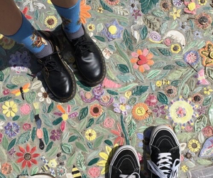 flowers, shoes, and art image
