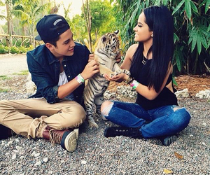 becky g, austin mahone, and couple image
