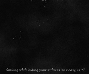 Easy, sadness, and quote image