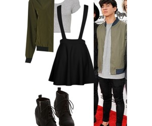 black, jacket, and calum hood image