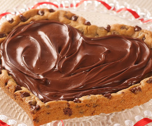 heart, chocolate, and nutella image