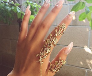 nails, accessories, and hand image