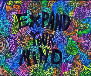 mind, expand, and colors image