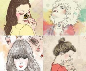 draw, não provoque, and girls image