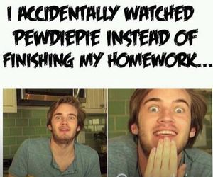 pewdiepie, funny, and youtube image