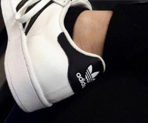 black, adidas, and aesthetics image