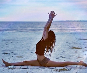 beach, vacation, and flexibility image