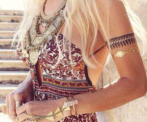 fashion, boho, and girl image