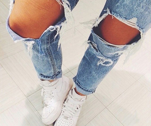 jeans, fashion, and nike image