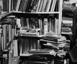 books, black and white, and paradise image