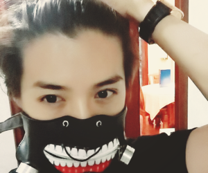luhan, exo, and tokyo ghoul image