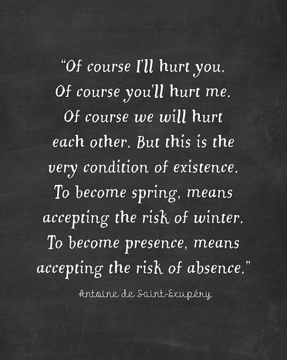 1) Of Course I\'ll Hurt You - The Little Prince Quote ...