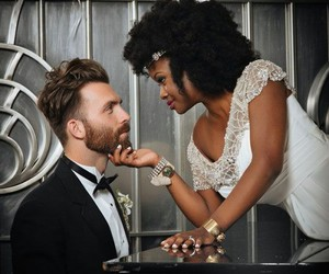 love, couple, and interracial image