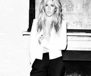 black and white, Ellie Goulding, and blonde image