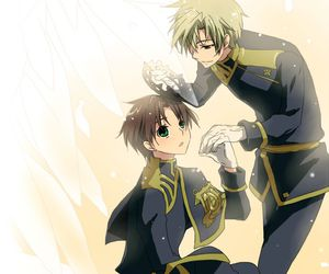 mikage, 07-ghost, and teito klein image