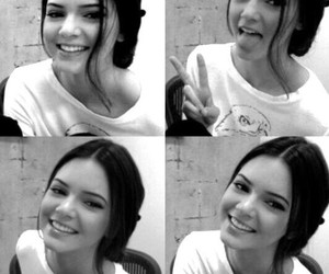 kendall jenner, black and white, and pretty image