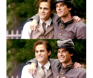 the vampire diaries, ian somerhalder, and paul wesley image