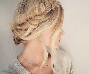 blonde, hairstyle, and healthy image