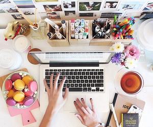 desk, study, and school image
