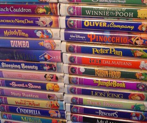 disney, vhs tapes, and disney movies image