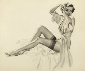 girl, illustration, and Pin Up image